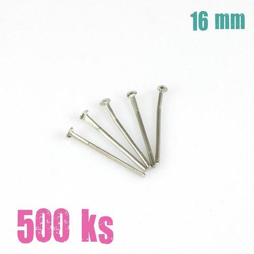 Ketlovací nýty platinové 16 mm, 500 ks