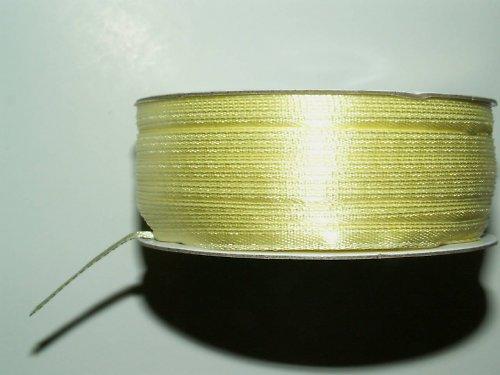 světle žlutá atlasová stuha š 3 mm - 1 m