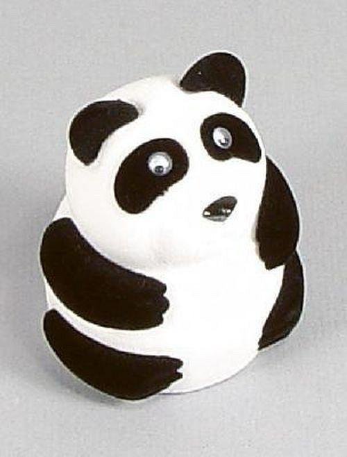 Sametová krabička na šperky - panda