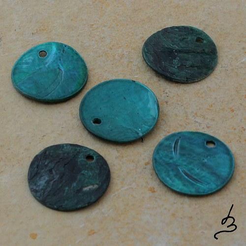 Penízky perleťové smaragdové