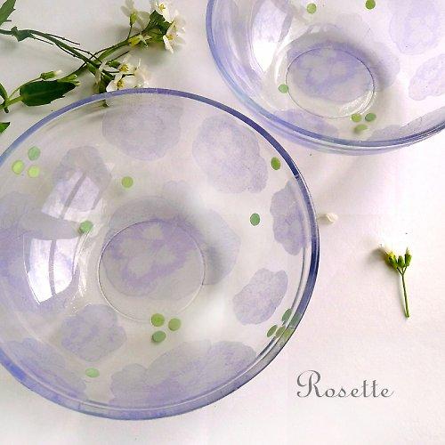 Vzpomínka na loňské macešky ... - skleněná miska