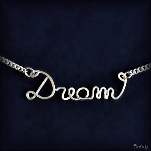 """Náhrdelník s menom / řetízek se jménem \""""Dream\"""""""