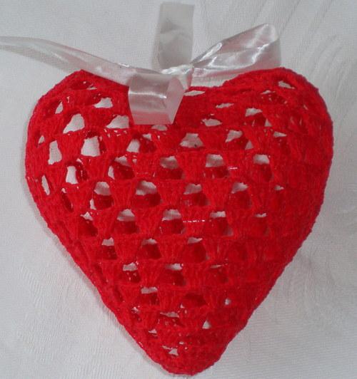 Trojrozměrné srdce - světle červené