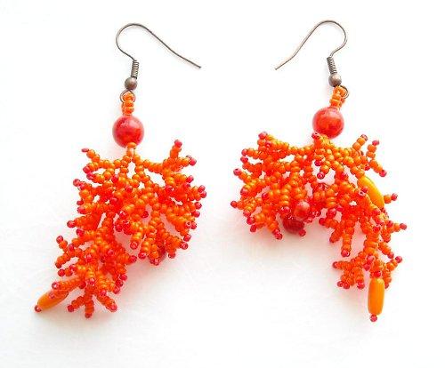 Oranžáda pro mořskou pannu - náušnice I.