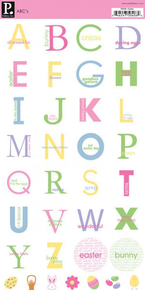 Samolepky abeceda - Velikonoce