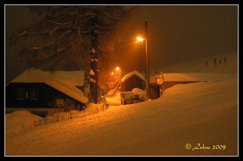 Půlnoc v Jizerských horách