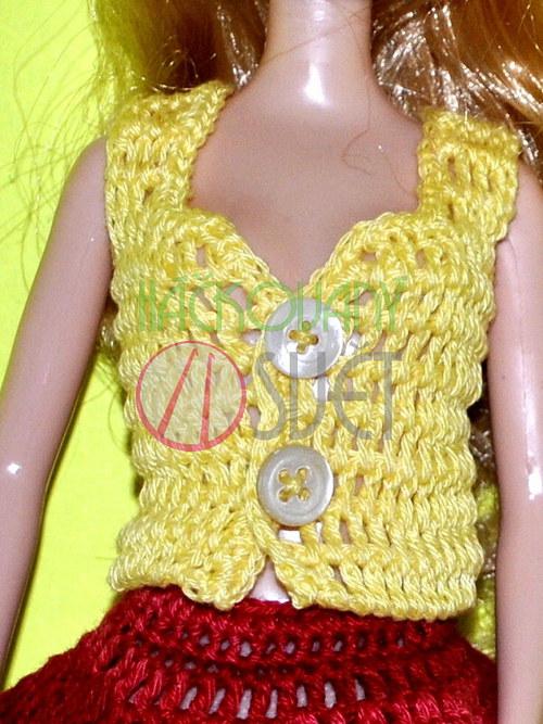 SLEVA:Letní tílko pro Barbie - žluté
