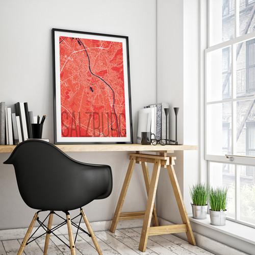 SALZBURG, 50x70cm, elegantní, červený