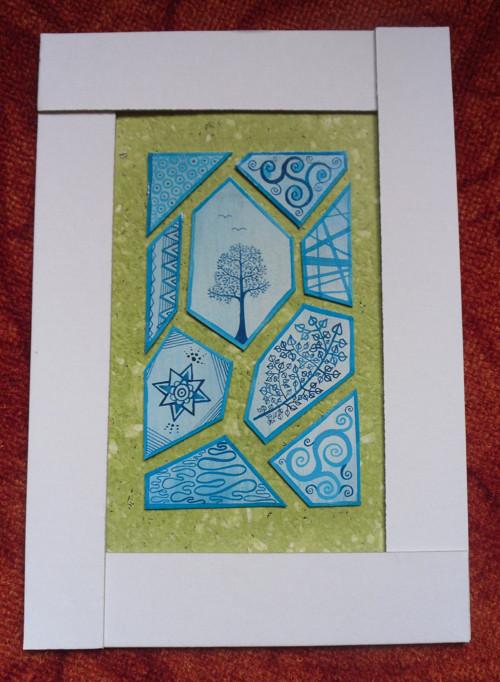 Obrázek mozaikový modrý