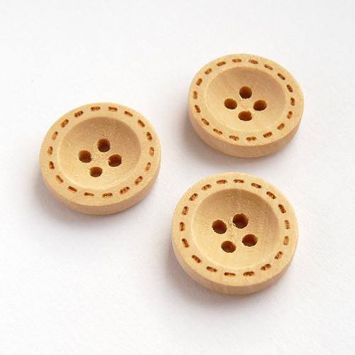 3ks| Dřevěné knoflíky 18 mm