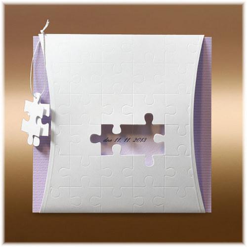 Svatební oznámení puzzle