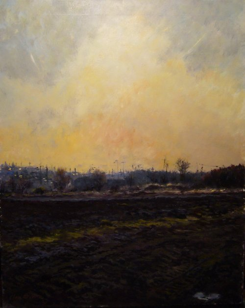 Jan Severa - Západ slunce u Mochova