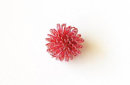 Kulička z drátku - růžová