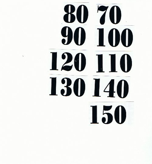 Čísla nalepovací na dětský metr černá typ 18