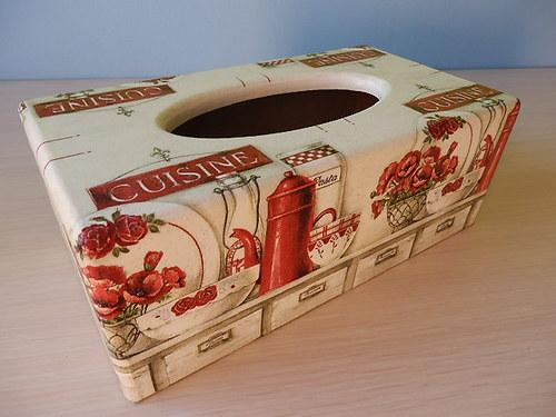 Krabička na kapesníky Zátiší Cuisine