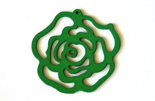 dřevěná růže- zelená