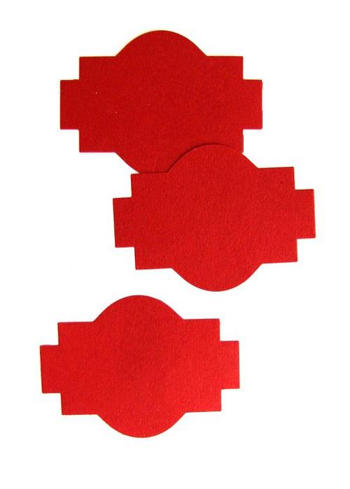 Štítek baňatý č. 2 - 3 ks - barva podle přání