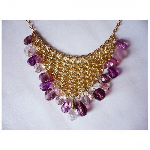 Fialový sen - náhrdelník