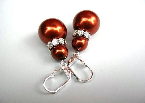 Terakota pearl náušnice