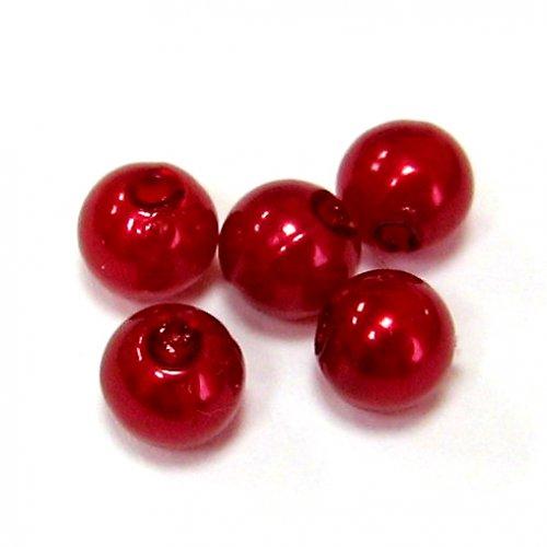 Perly - růžovovínové - 50 ks