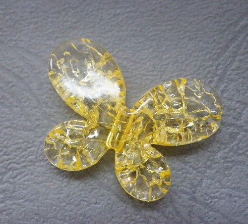 Žlutý motýl - 1ks