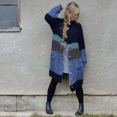 Wool Hand-Knitted Coat - poctivý vlněný svetr