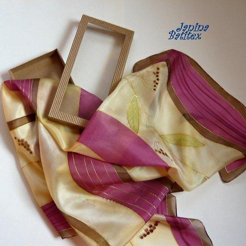 Hedvábný šátek - Plody podzimu
