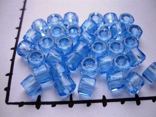Korálky bavoráky světle modré, 36ks
