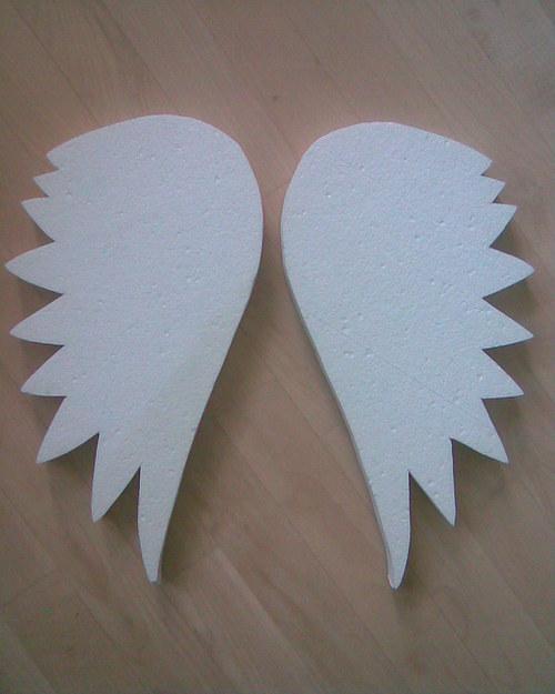 Andělská křídla z polystyrenu cca 41x21 cm