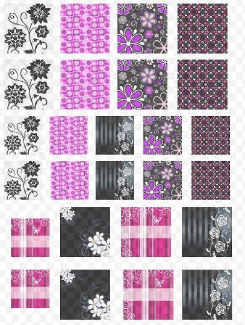 fialovočerné čtverečky