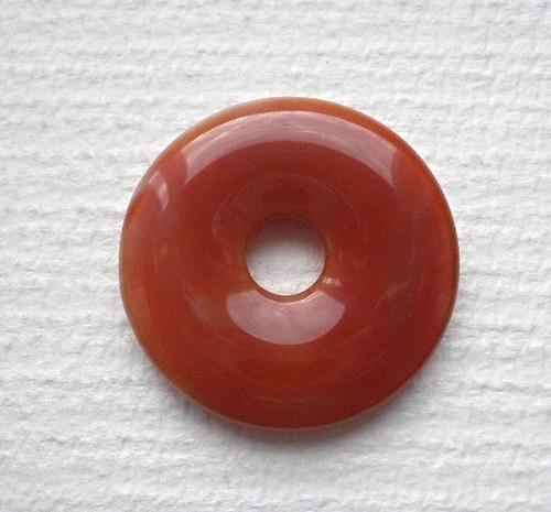 Donut z karneolu I. - 3,5cm