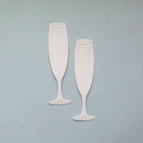 Výsek - Dvě skleničky šampaňského