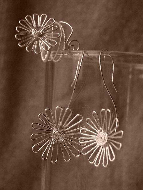 Set Naušnice a prsteň Sedmokrásky - Sedmikrásk