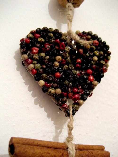 vánoční dekorace srdce a hvězda