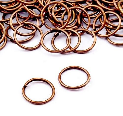 Kroužek spojovací 10mm,  staroměď (20ks)