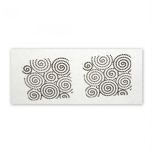 Silk Screen šablona / Spiral Dots