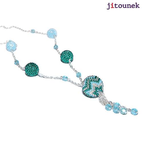 Tyrkysový koulový náhrdelník
