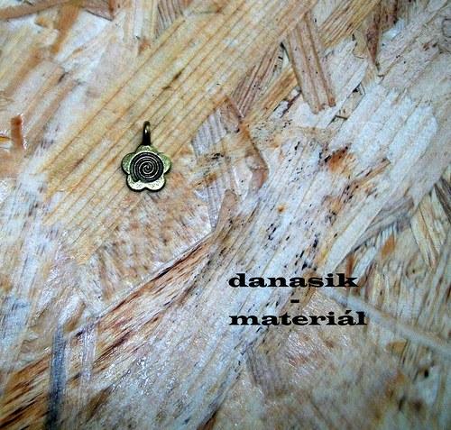 BRONZOVÝ NALEPOVACÍ ZÁVĚS - KYTIČKA - 15 mm