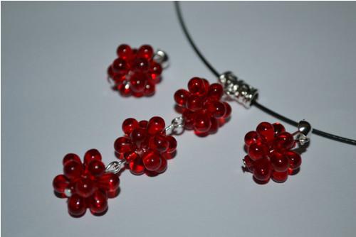 SADA náhrdelník+náušnice JAHŮDKY ...
