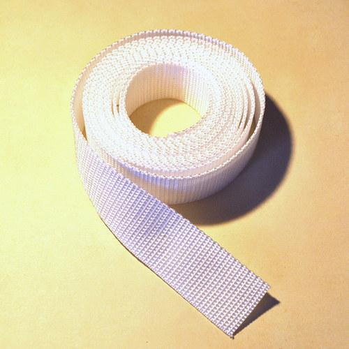 Popruh POP 2,5 cm - bílá