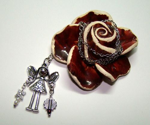Evík - Vaše maličká Andělka strážná - náhrdelníček