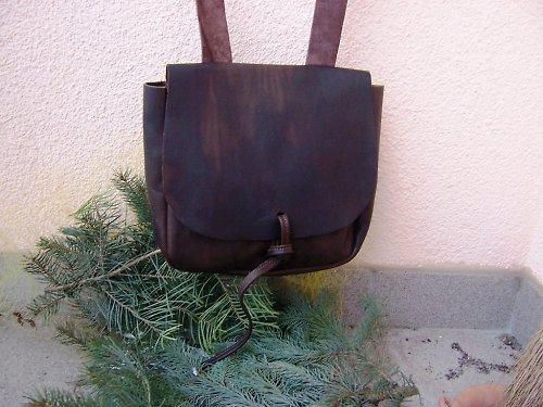 Kvalitní kožená taška ve stylu 1.poloviny 19.stol.