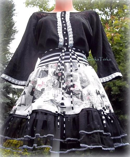 sukně Monster high -černá varianta