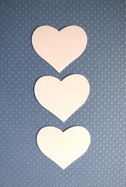 Srdce - 3 ks - barva podle přání