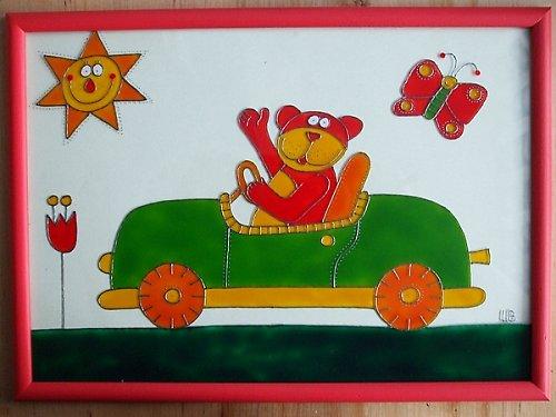 Medvídek v autě