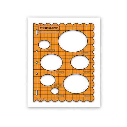 Tvarová šablona Fiskars / Oválky
