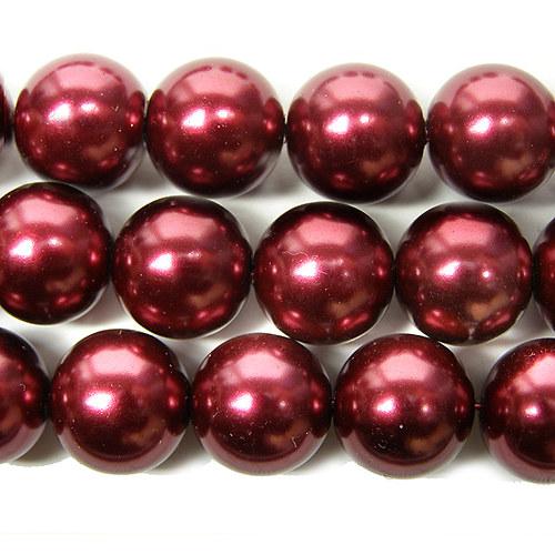 Voskové perly bordo, 16 mm - 1 kus