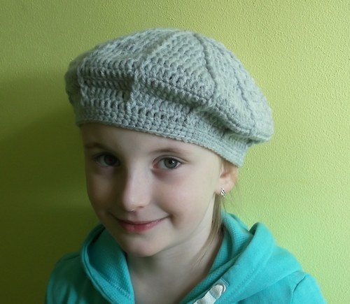 Dívčí baret 52-56 cm...i jiné barvy.