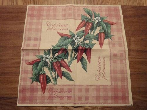 Ubrousek na decoupage - chilli papričky