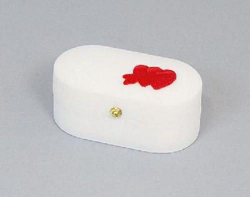 Sametová krabička na šperky - bílá krabička